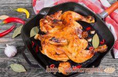 Вкусный и сочный цыпленок табака