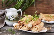 Отличное зимнее блюдо — блинчики из картофеля с мясной начинкой!