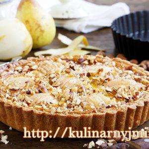 Пирог с грушами и фундуком — нежно -ореховый с приятной кислинкой