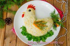 Вкуснейший салатик на Новый Год в форме петушка!