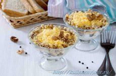 Мясной салат с грецкими орехами — питательный и вкусненький!