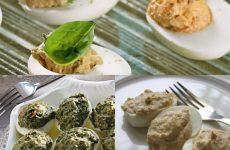 Вкуснейшая подборка трех рецептов фаршированных яиц к праздничному столу!