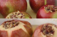 Яблоки, запеченные с фаршем — потрясающий вкус!