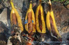 Запеченные бананы с шоколадом — быстрый, вкусный и незамысловатый десерт!