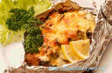 Ароматное блюдо — запеченные грибы с сыром и помидорами в фольге!