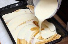 Бананы с творогом и йогуртом — полезный сладкий завтрак!