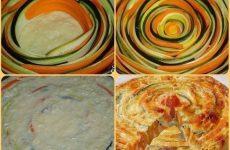 Овощной пирог — красивый, яркий, вкусный и полезный!