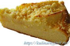 Очень быстрый творожный пирог — простой рецептик!
