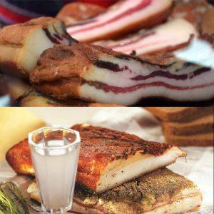 Два простейших и вкуснейших рецепта вяленого сала!