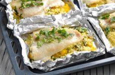 Филе белой рыбы с кускусом — сочная ароматная рыбка!