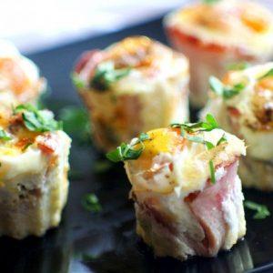 Корзинки с ветчиной и грибами — сытное и красивое блюдо!