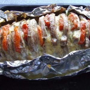 Мясо 'Гармошка' — красивое вкуснейшее блюдо!