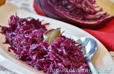 Три простеньких и полезных салата из краснокочанной капусты!