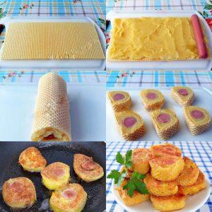 Сосиски с картофельным пюре в вафлях — оригинально, вкусно и легко в приготовлении!