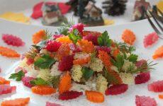 Винегрет «Листики» — нарядный овощной салатик!