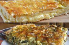 2 рецепта закусочных пирогов с сыром или брынзой — великолепная закуска!
