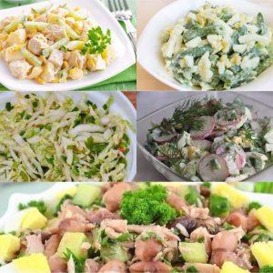 Подборка 5 легких салатиков для стройной фигуры!!!