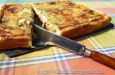 Пирог с луком и моцареллой — очень нежный пирог!