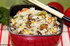 Невероятно вкусный рис с овощами и грибами!