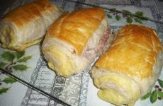 Рулеты слоеные с салями и сыром — быстрое, красивое, вкусное, сытное блюдо!