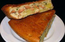 Рыбный заливной пирог с картошкой — пальчики оближешь!!!