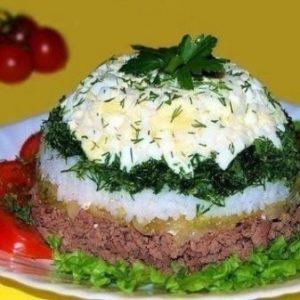 Салат «Шапочка» — простой, но очень вкусненький!