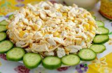 Салат с курицей и яичными блинчиками — оригинальный салатик!