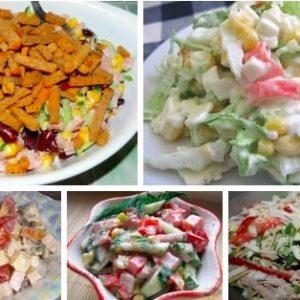9 салатиков легкого приготовления!!!
