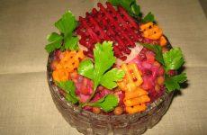Винегрет овощной — нарядный овощной салат!