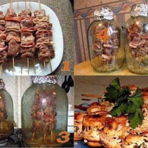 Оригинальный рецепт шашлыка в банке, без мангала и углей!!!