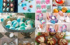 5 оригинальных, красивых и простых способов покрасить яйца!