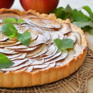 Французский пирог с яблоками — красивый, нежный, тающий во рту…!
