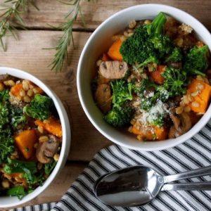 Перловый плов с грибами и печеной тыквой — невероятное сочетание, вкусно!
