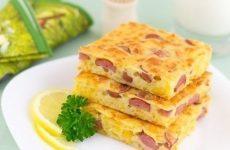 Пирог с сыром и сосисками — какой этот пирог вкусный и питательный…!