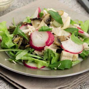 Салат из курицы с сельдереем и грибами — вкусный, полезный и питательный салат!