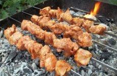 Шашлык из курицы по-грузински — изумительно сочный, рекомендую!