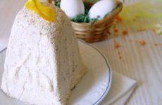 Творожная пасха с миндалем и апельсиновой карамелью — облегченный вариант с минимальным содержанием сливочного масла!