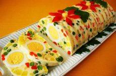 Желейный салат с яйцами и овощами — изюминка в любой Ваш праздник!