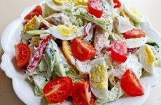 Диетический куриный салатик — вкусный, сытный и полезный салат!
