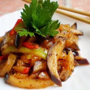 Баклажаны по-корейски «Кадича» —  вкусный овощной салат!
