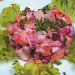 Винегрет с мясом — простой, вкусный и сытный салатик!