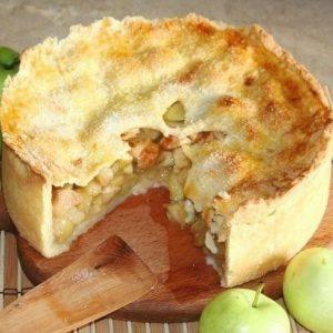 Яблочный пай — нежная яблочная начинка!