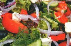 Греческий салат с брынзой — свежий, сочный, яркий и вкусный!