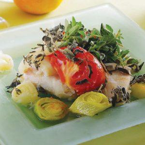 Камбала, запеченная по-итальянски — сочная, ароматная…!
