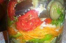 Баклажаны по-корейски — вкусный, простой, очень аппетитный салатик