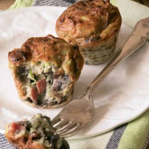 Кексы из кабачка с луком и беконом — оооочень вкусные!!!