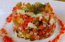Пикантный оливье — народный салатик!