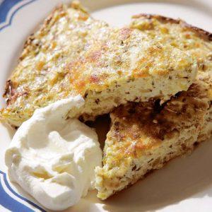 Пирог из кабачков с мятой — быстро и вкусно!