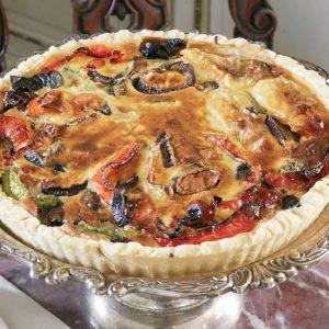 Пирог с баклажанами и перчиками — любимое летнее блюдо!