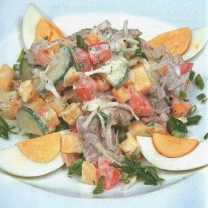 Салат «богатырь» — вкусный праздничный салатик!